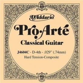 D'Addario J4604C Pro Arte Composite Silverplated Wound on Nylon Hard Tension Single String 4th D-String