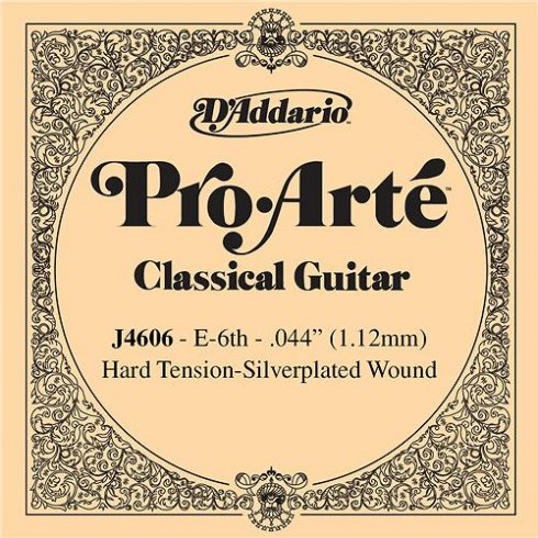 D'Addario J4606 Pro Arte Silverplated Wound on Nylon Hard Tension Single String 6th E-String
