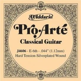 D'Addario J4606 Pro Arte Silverplated Wound on Nylon Hard Tension Single String 6th E-String