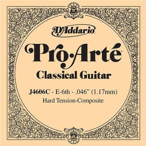 D'Addario J4606C Pro Arte Composite Silverplated Wound on Nylon Hard Tension Single String 6th E-String