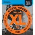 D'Addario Jazz EJ22 Nickel Guitar Strings 13-56 Medium w/ Wound 3rd