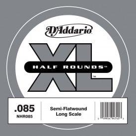 DAddario NHR030 Half Round Bass Guitar Single String Long Scale .030