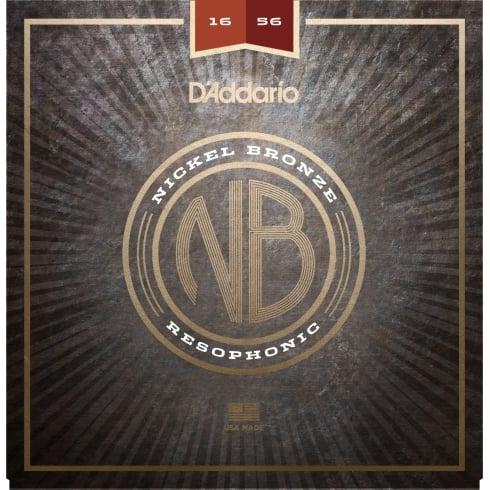 D'Addario Nickel Bronze Acoustic Guitar Strings, Resophonic, 16-56