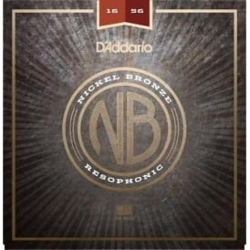 D'Addario Nickel Bronze Acoustic Guitar Strings, Resophonic, 16-56