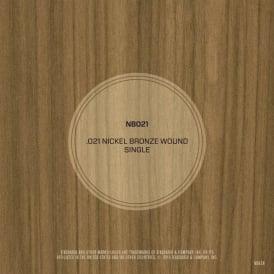 D'Addario Nickel Bronze Wound .021 Single String