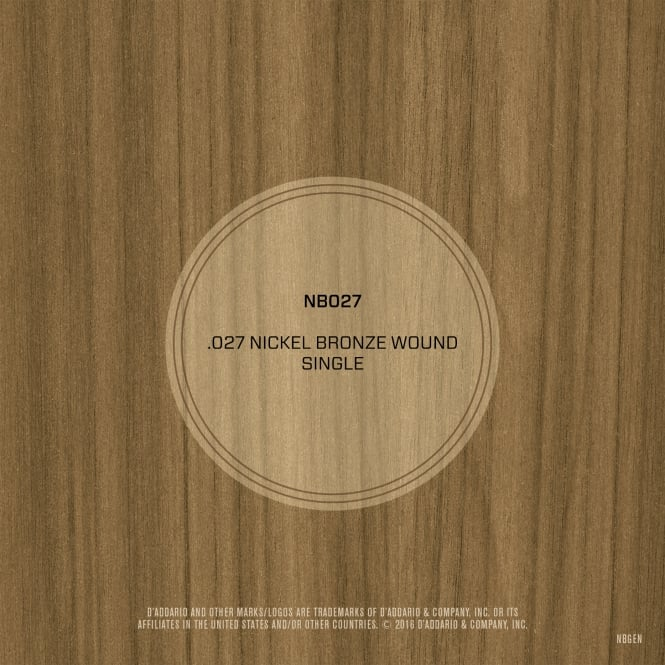 D'Addario Nickel Bronze Wound .027 Single String
