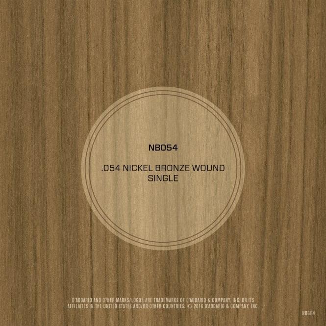 D'Addario Nickel Bronze Wound .054 Single String