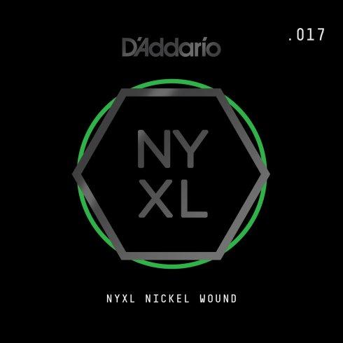 D'Addario NYXL Nickel Wound Single Electric Guitar Strings (Gauges .017-.080)