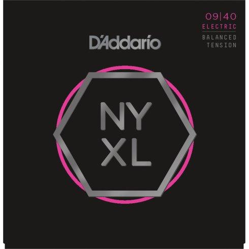 D'Addario NYXL0940BT Balanced Tension Nickel Guitar Strings 9-40 Super Light