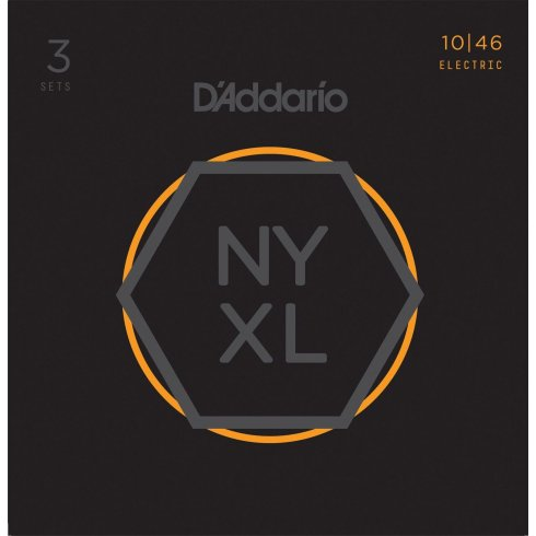 D'Addario NYXL1046-3P Nickel Guitar Strings 10-46 Light 3-Pack