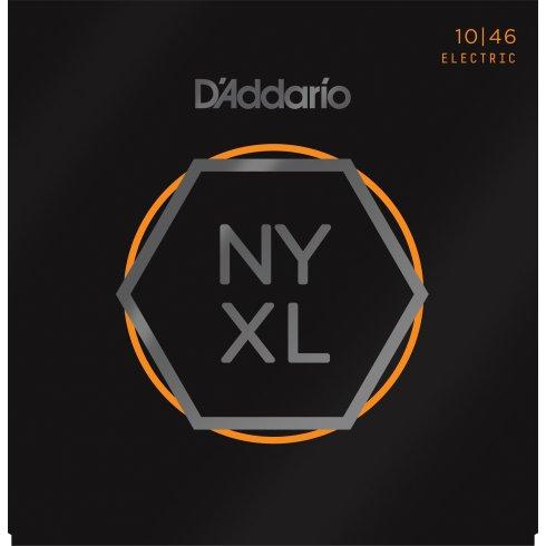 D'Addario NYXL1046 Nickel Wound Electric Guitar Strings 10-46 Light, 12-Pack