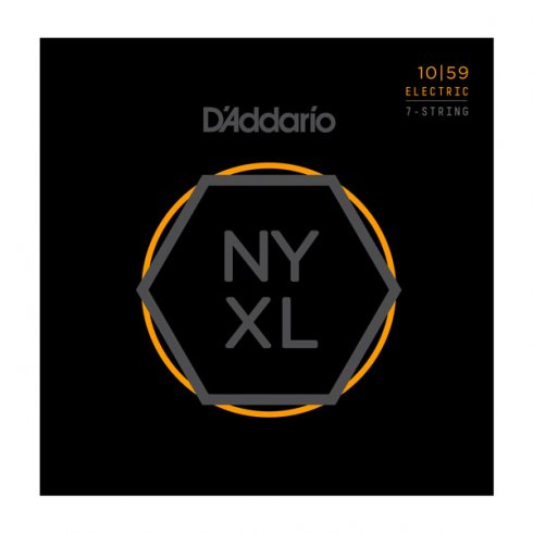 D'Addario NYXL1059 Nickel 7-String Guitar Strings 10-59 Regular