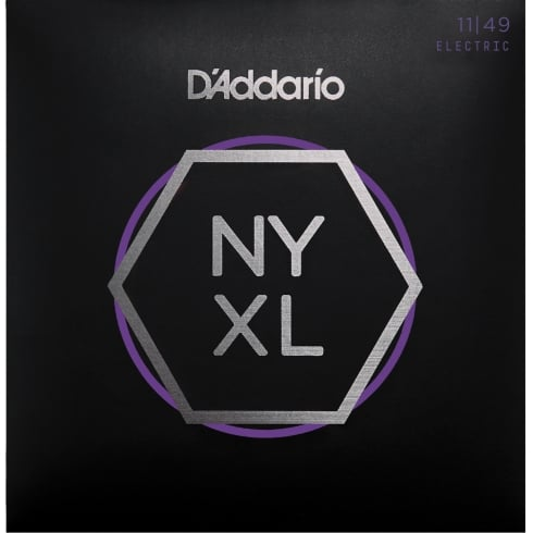 D'Addario NYXL1149 Nickel Wound Electric Guitar Strings 11-49 Jazz Blues Gauge