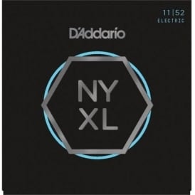 D'Addario NYXL1152 Nickel Wound Electric Guitar Strings 11-52 Medium Top / Heavy Bottom