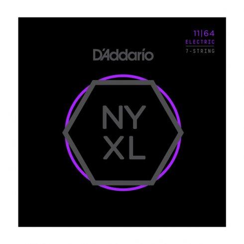 D'Addario NYXL1164 Nickel Wound 7-String Electric Guitar Strings 11-64 Medium