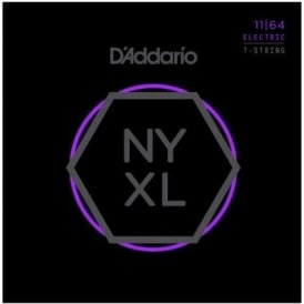 D'Addario NYXL1164 Nickel Wound 7-String Electric Guitar Strings 11-64 Medium
