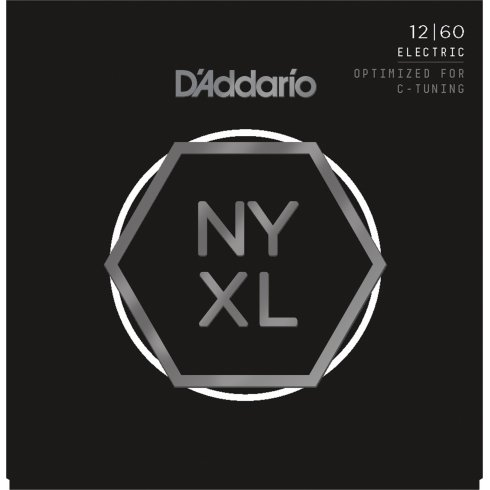 D'Addario NYXL1260 Nickel Guitar Strings 12-60 Extra Heavy