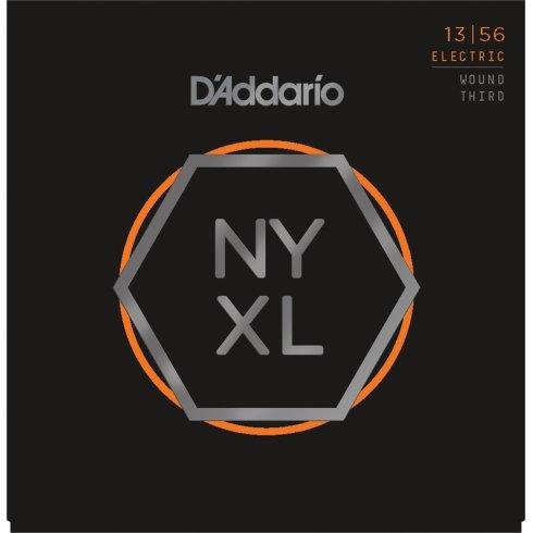 D'Addario NYXL1356w Nickel Guitar Strings 13-56 Jazz Medium w/ Wound 3rd