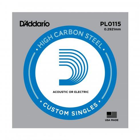 D'Addario PL0115 Plain Steel Ball End Guitar Single String .0115