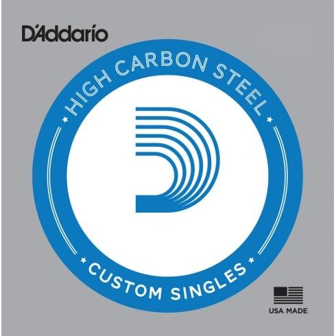 D'Addario Plain Steel Custom Single Guitar Strings (Gauges .007-.026)