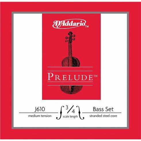 D'Addario Prelude Double Bass Strings 3/4 Scale, Medium Tension