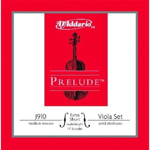 D'Addario Prelude Viola Medium Tension Extra Short Scale