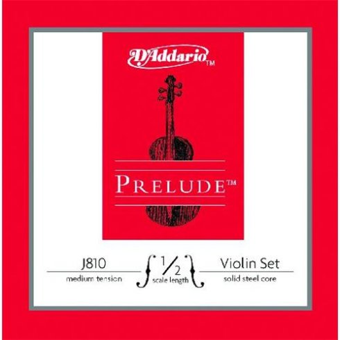 D'Addario Prelude Violin 1/2 Scale Medium Tension J810-1/2M