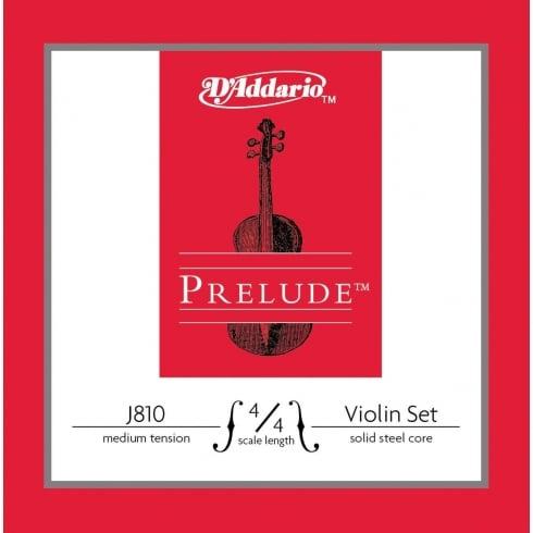 D'Addario Prelude Violin String Set Medium Tension 4/4 Size J810-4/4M