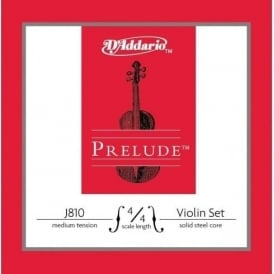 D'Addario Prelude Violin String Set Medium Tension 4/4 Size J810-4/4M