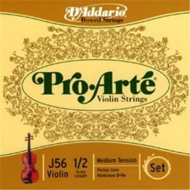 D'Addario Pro Arte Violin 1/2 Scale / Medium Tension