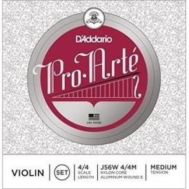 DAddario Pro-Arte Wound E 4/4 Scale Medium Tension Violin String Set J56W