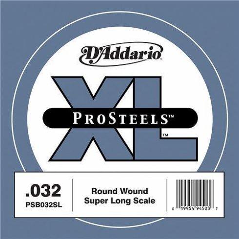 D'Addario PSB032SL ProSteels XL Bass Single String .032 Super Long Scale