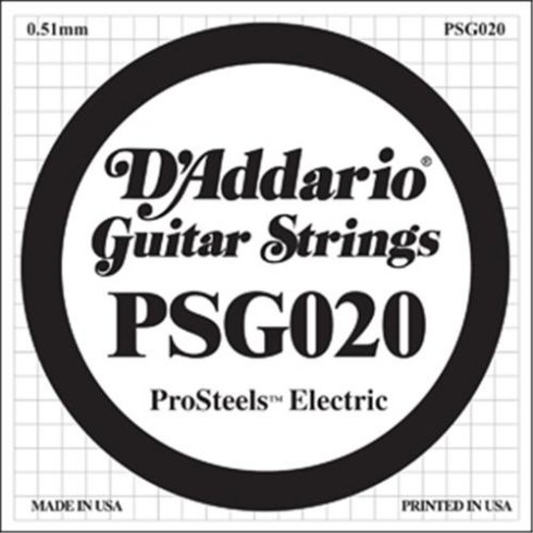 D'Addario PSG020 Stainless Steel Wound Single String .020