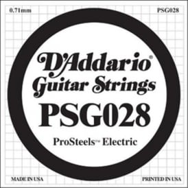 D'Addario PSG028 Stainless Steel Wound Single String .028