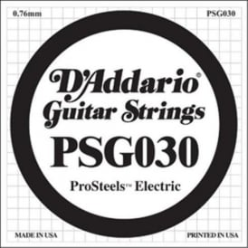 D'Addario PSG030 Stainless Steel Wound Single String .030
