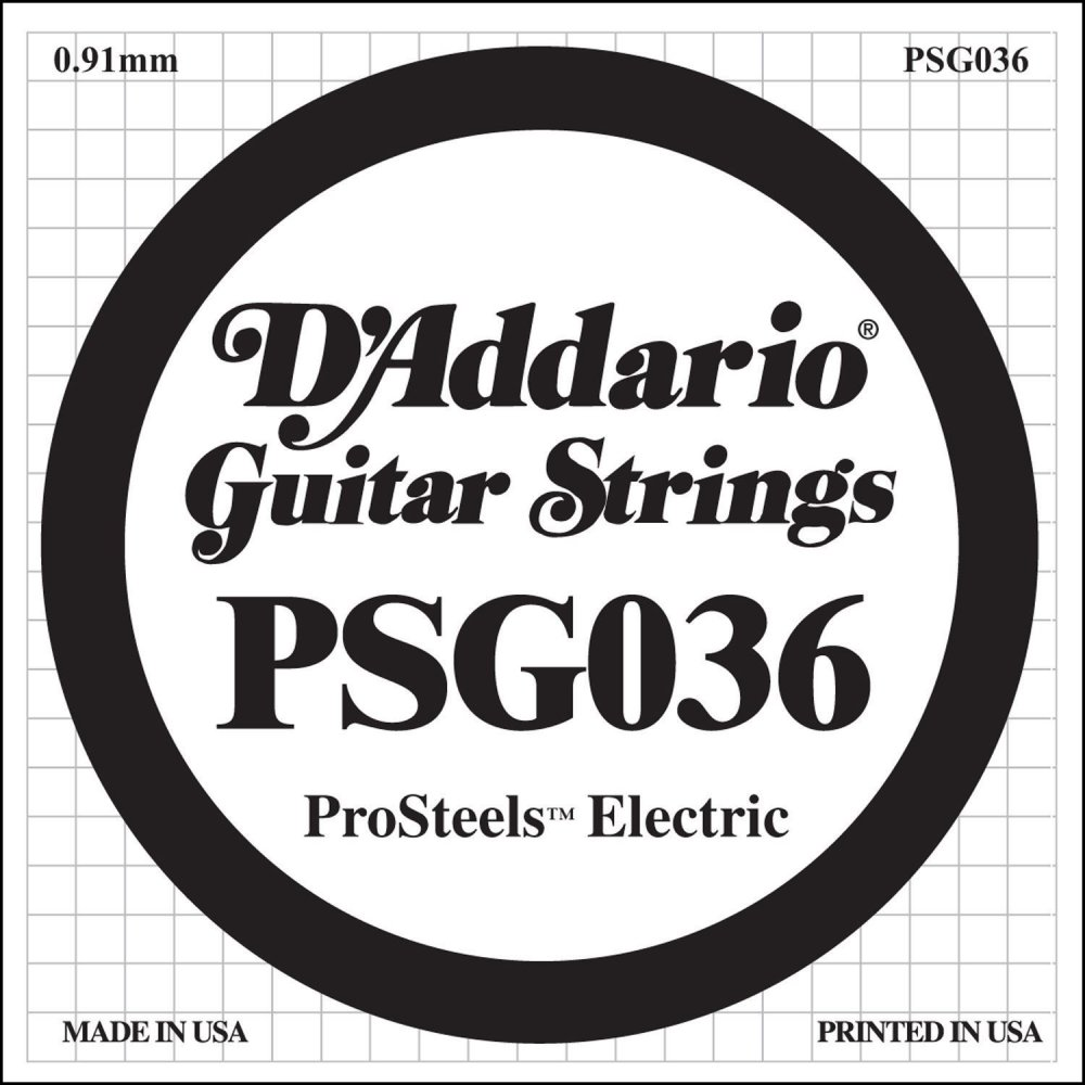 d 39 addario psg036 stainless steel wound single guitar string 036. Black Bedroom Furniture Sets. Home Design Ideas