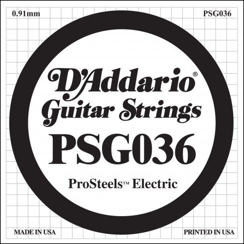 PSG036 Stainless Steel Wound Single Electric Guitar String .036 Gauge
