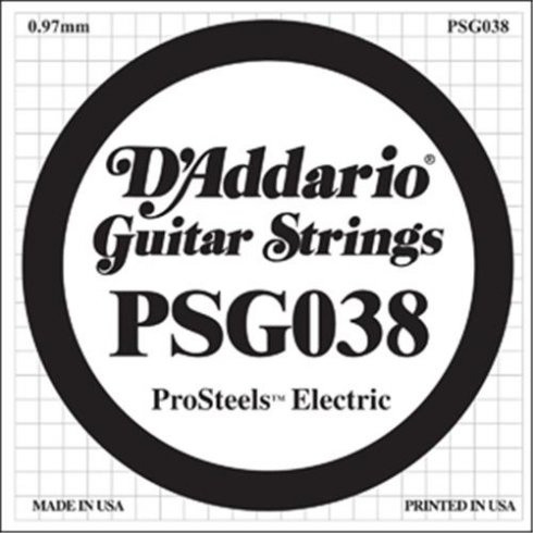 PSG038 Stainless Steel Wound Single Guitar String .038