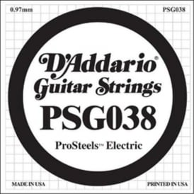 D'Addario PSG038 Stainless Steel Wound Single Guitar String .038