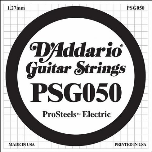 D'Addario PSG050 Stainless Steel Wound Single String .050