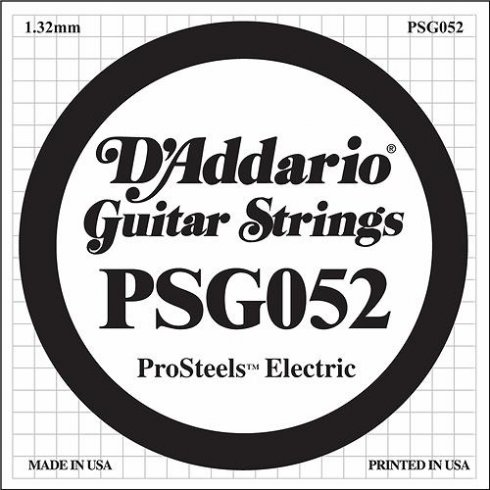 D'Addario PSG052 Stainless Steel Wound Single Guitar String .052