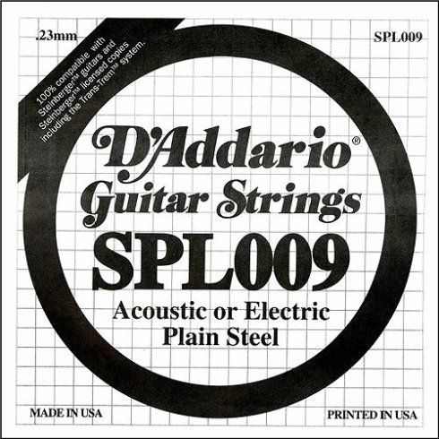 SPL009 Steinberger Double Ball End Plain Steel Single String .009