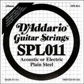 D'Addario SPL011 Steinberger Double Ball End Plain Steel Single String .011