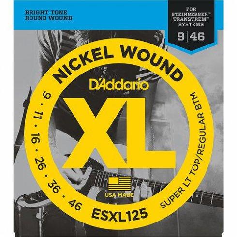 D'Addario Steinberger ESXL125 Double Ball End Guitar Strings 9-46 Custom Light