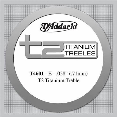 D'Addario T4601 T2 Titanium Hard Tension Single String 1st E-String