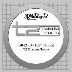 D'Addario T4602 T2 Titanium Hard Tension Single String 2nd B-String