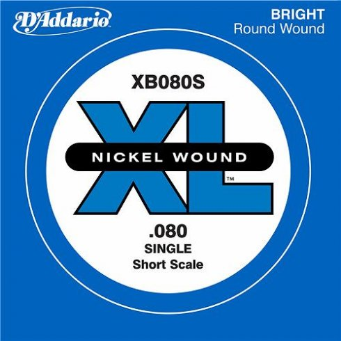 D'Addario XB080S Nickel Wound XL Bass Single String .080 Short Scale