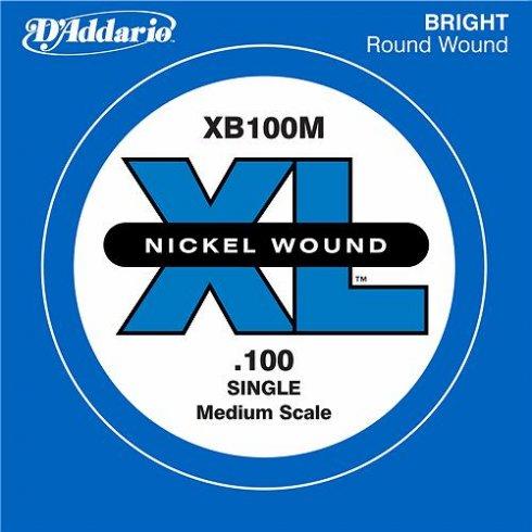 D'Addario XB100M Nickel Wound XL Bass Single String .100 Medium Scale