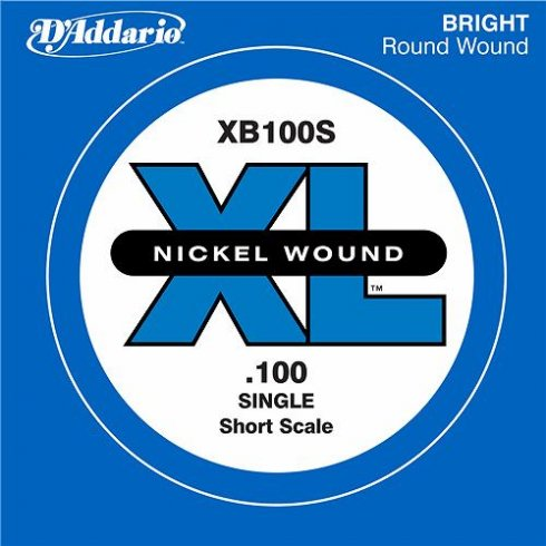D'Addario XB100S Nickel Wound XL Bass Single String .100 Short Scale