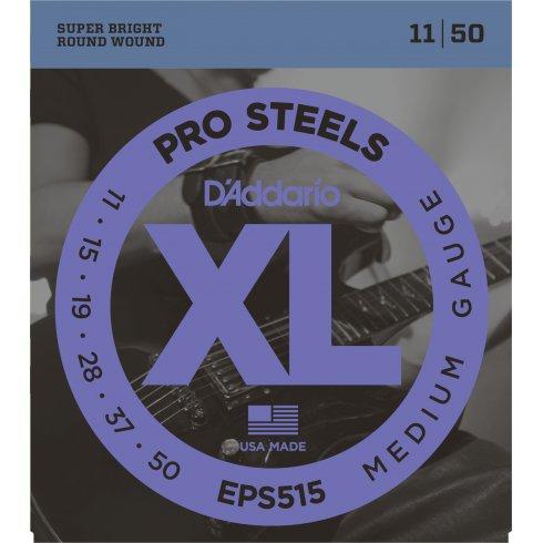 D'Addario XL ProSteels EPS515 Stainless Steel Guitar Strings 11-50 Jazz Rock
